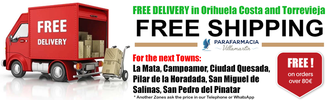 Free shipping in Torrevieja and Orihuela Costa